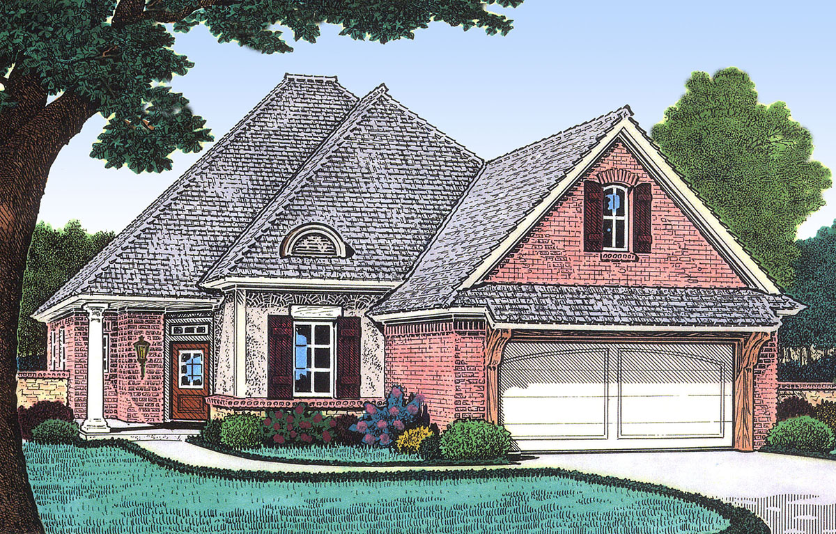 Narrow Lot French Country House Plan - 48309FM | Architectural ... on small french style homes, small french country kitchens, small french country house exteriors, farm country cottage design plan,
