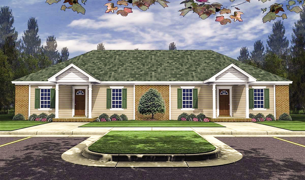 Beautiful 3 Bedroom Duplex in Many Sizes - 51114MM ...