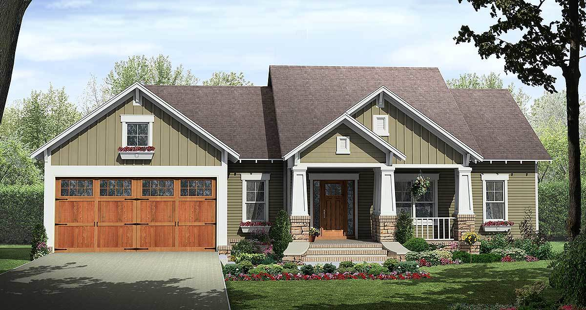 Creative Craftsman With Options 51131mm Architectural Designs