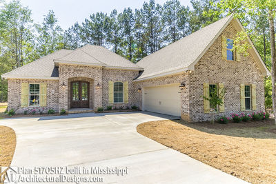 House Plan 51705HZ built with an all-brick exterior in Mississippi - photo 001