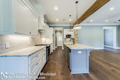 House Plan 51705HZ built with an all-brick exterior in Mississippi - photo 011