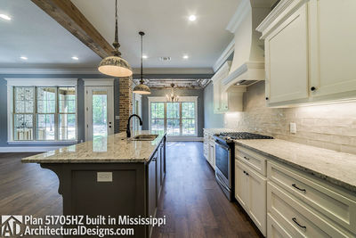 House Plan 51705HZ built with an all-brick exterior in Mississippi - photo 012