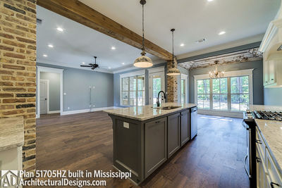 House Plan 51705HZ built with an all-brick exterior in Mississippi - photo 013