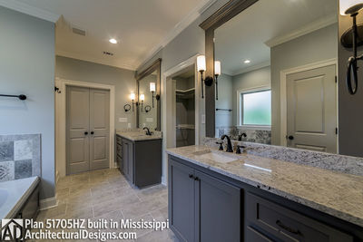House Plan 51705HZ built with an all-brick exterior in Mississippi - photo 020