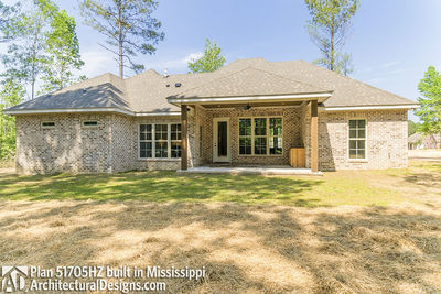 House Plan 51705HZ built with an all-brick exterior in Mississippi - photo 030