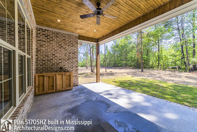 House Plan 51705HZ built with an all-brick exterior in Mississippi - photo 031