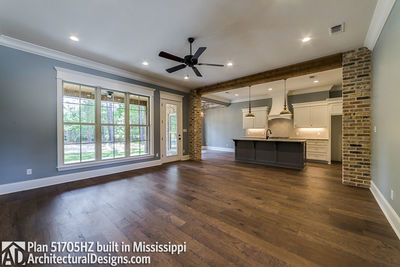 House Plan 51705HZ built with an all-brick exterior in Mississippi - photo 005