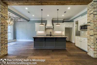 House Plan 51705HZ built with an all-brick exterior in Mississippi - photo 008
