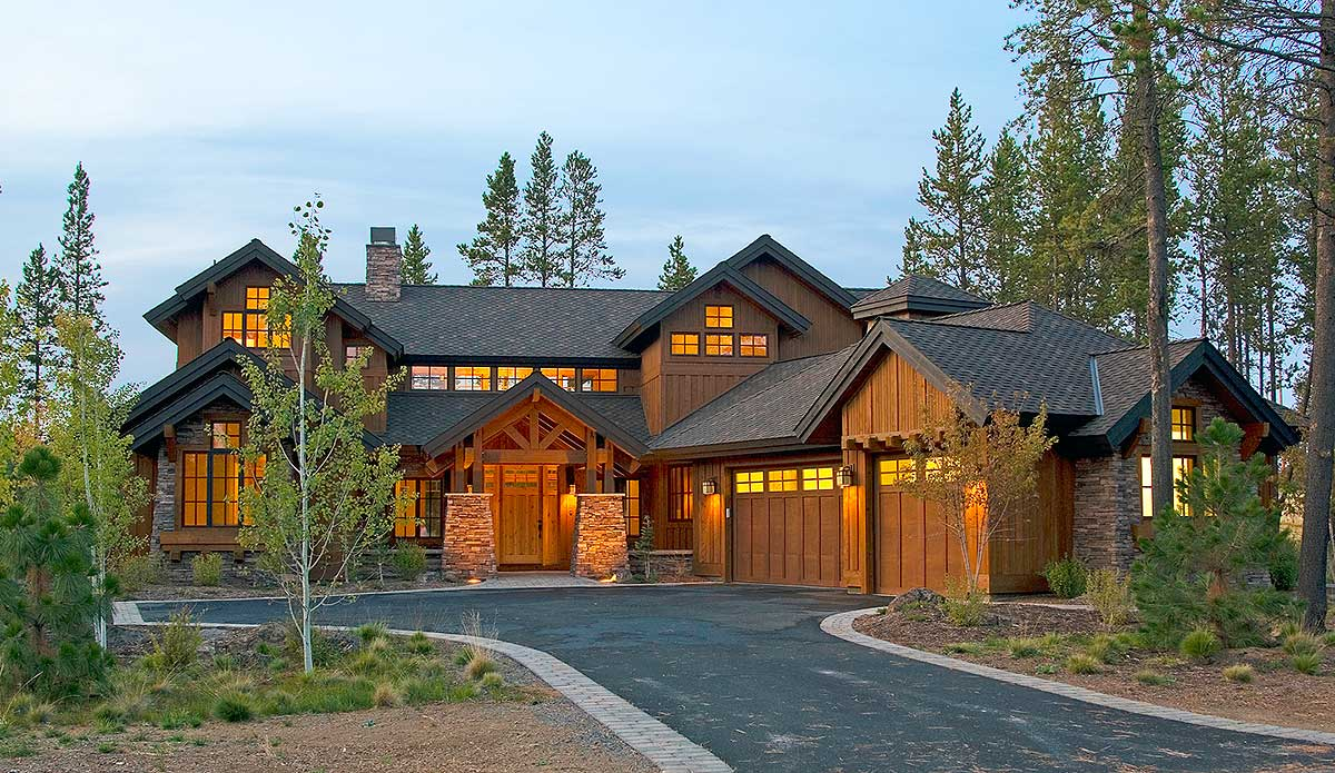Mountain Luxury With Bridge Balcony 54204hu Architectural Designs House Plans
