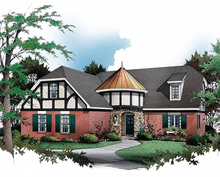 English Tudor Cottage - 5472LK | Architectural Designs ...