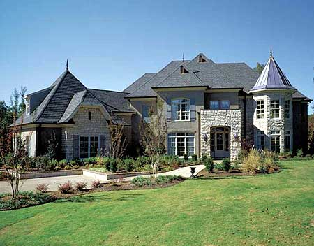 Modern French Country Estate 5477lk Architectural Designs