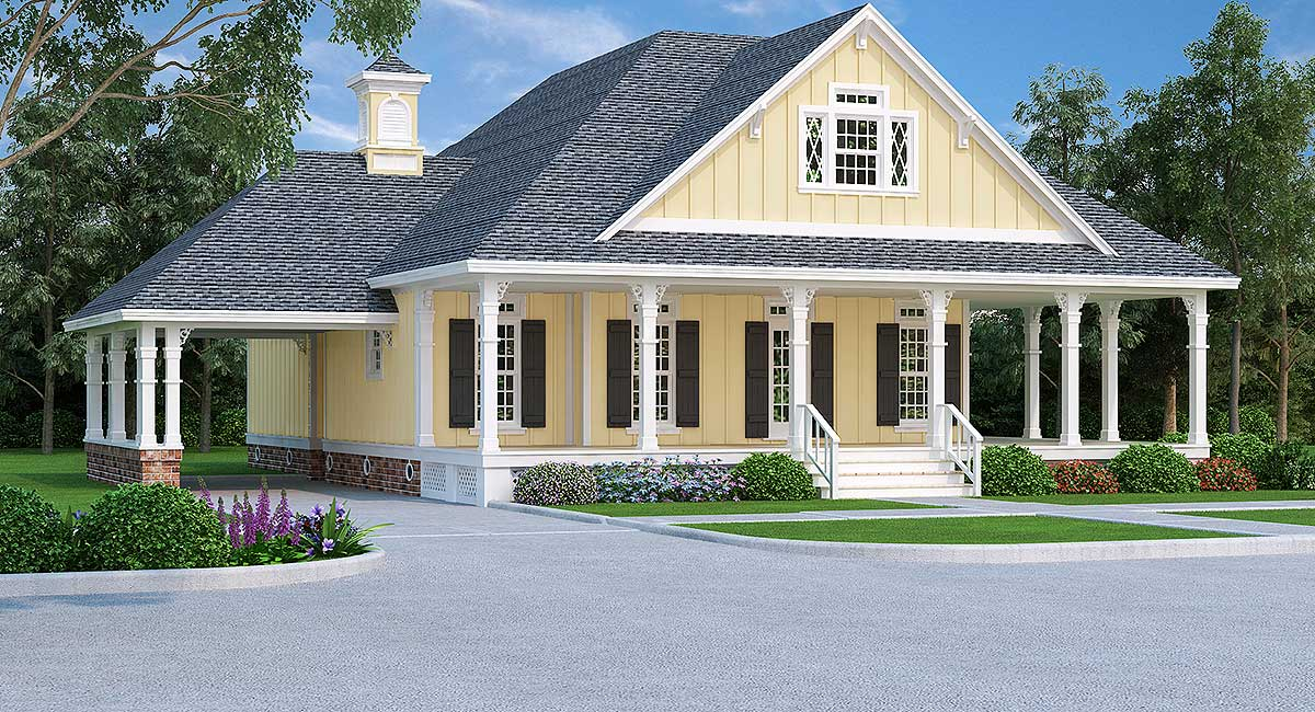 4 Bed House Plan With Wraparound Porch 55180br