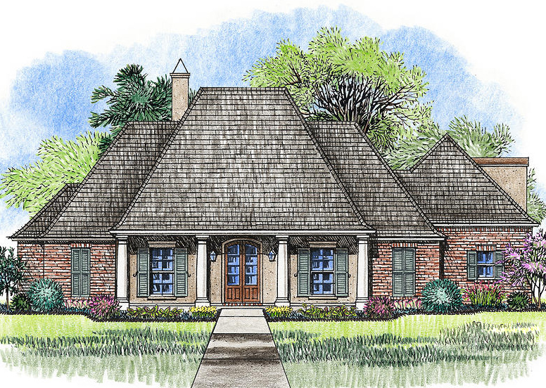 4 Bed Acadian House Plan With Bonus Room 56385sm Architectural