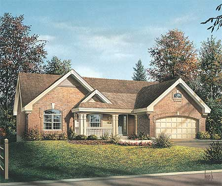 Stylish Four Bedroom Ranch Home Plan Plus Study - 57133HA ...
