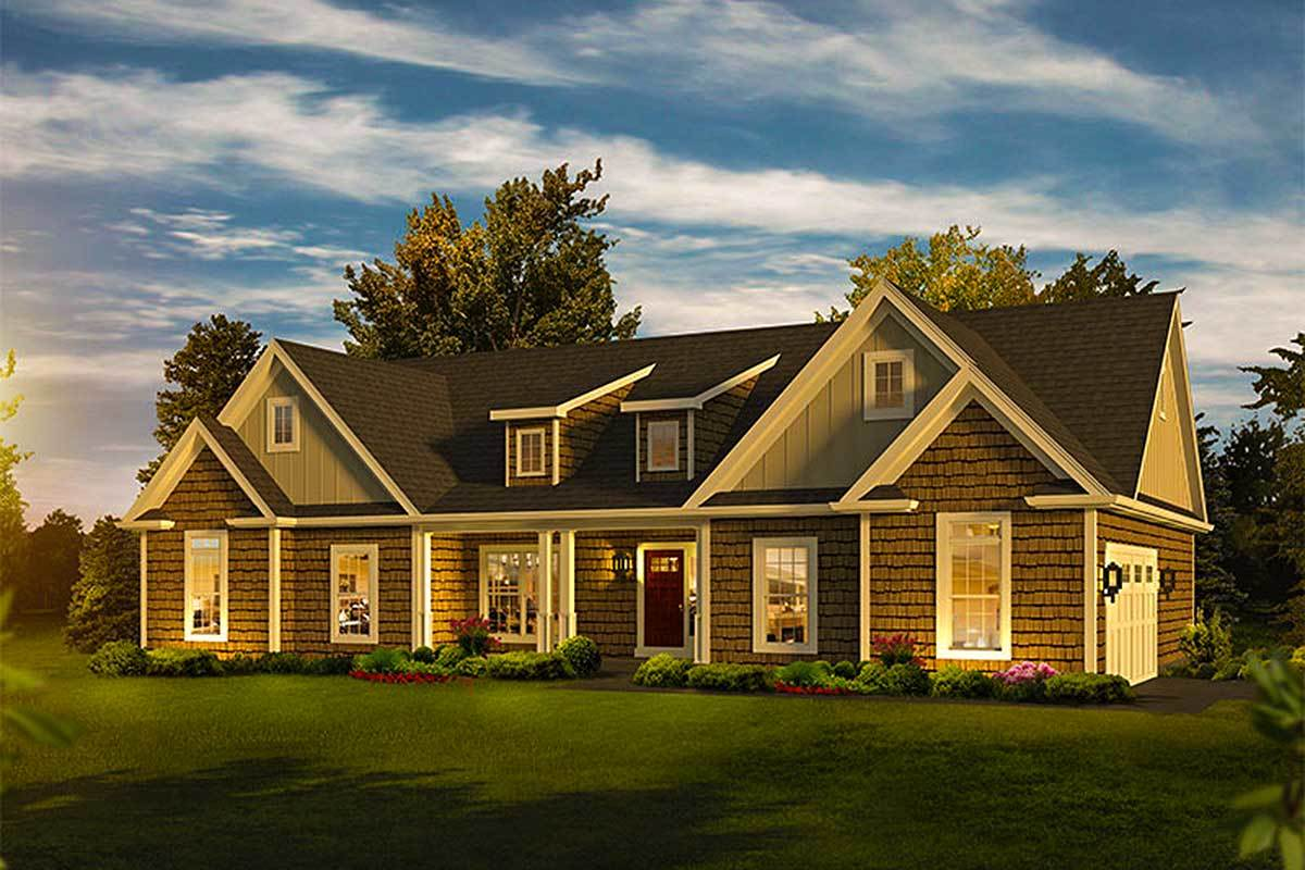 House With Shed Dormer Plans - Modern House