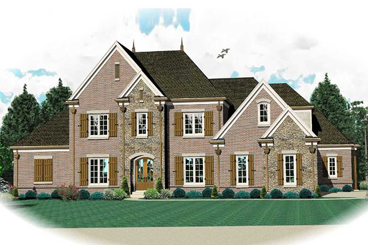 Stately Traditional House Plan 58391SV Architectural
