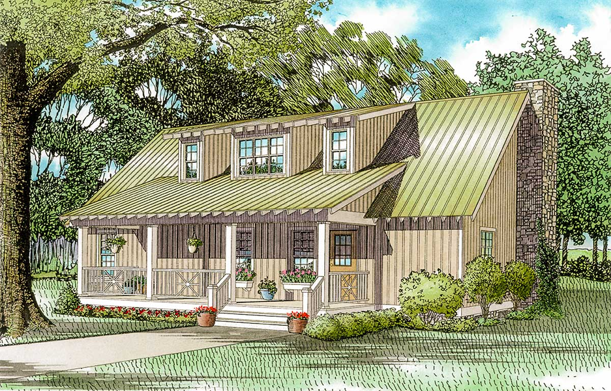 Lake Side Cabin Cottage 59154nd Architectural Designs House Plans