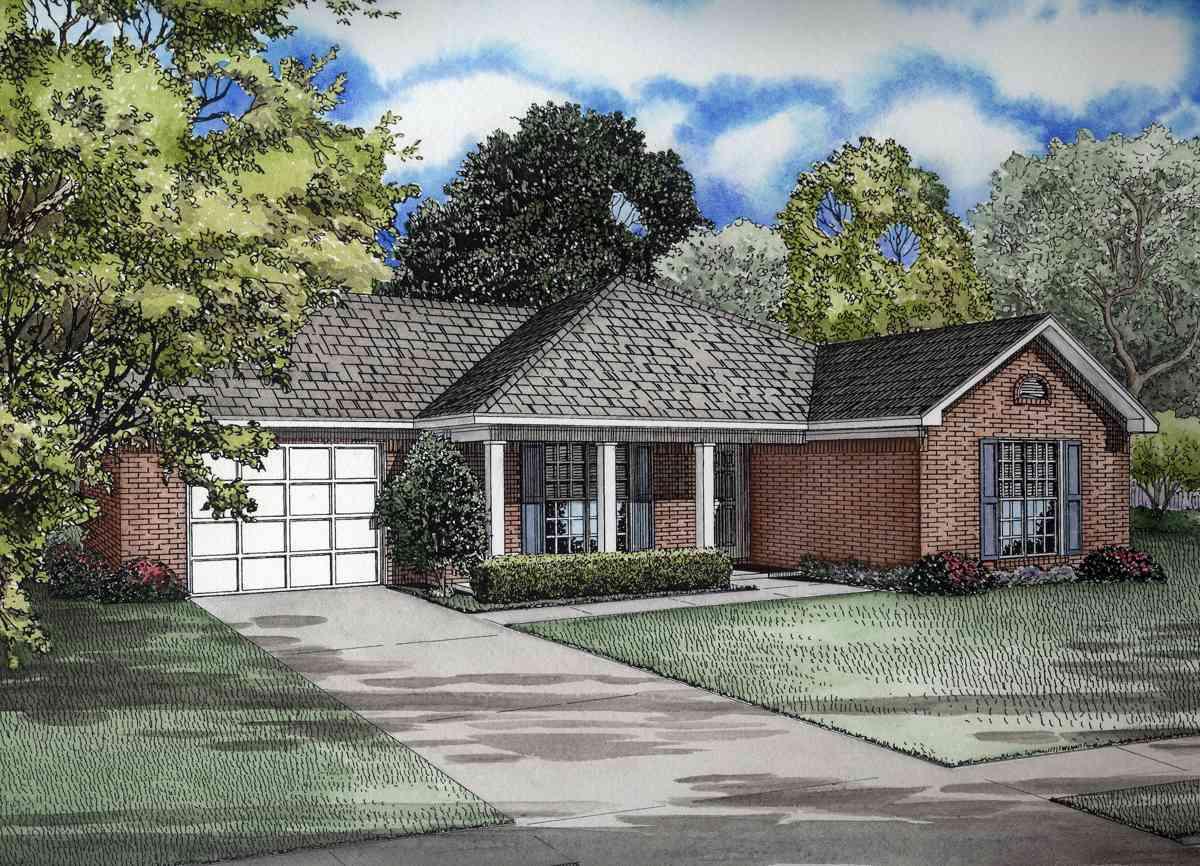 Sleek Hip Roof Design 59255nd Architectural Designs House Plans