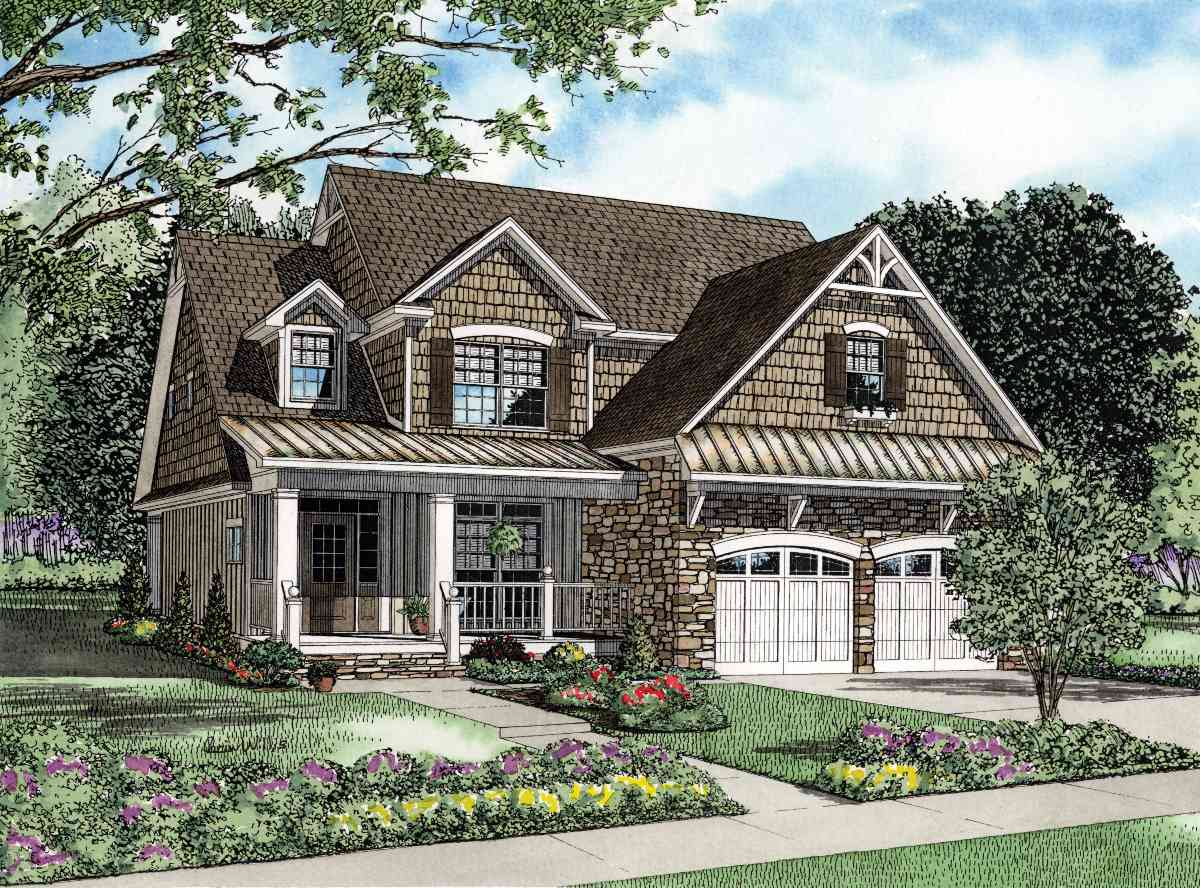 Welcoming Front Porch 59777nd Architectural Designs
