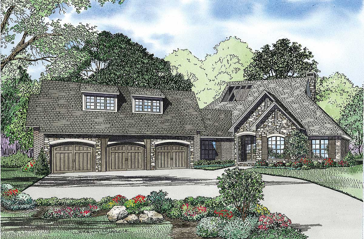 4 Bed House Plan With Central Atrium 60505nd Architectural Designs House Plans