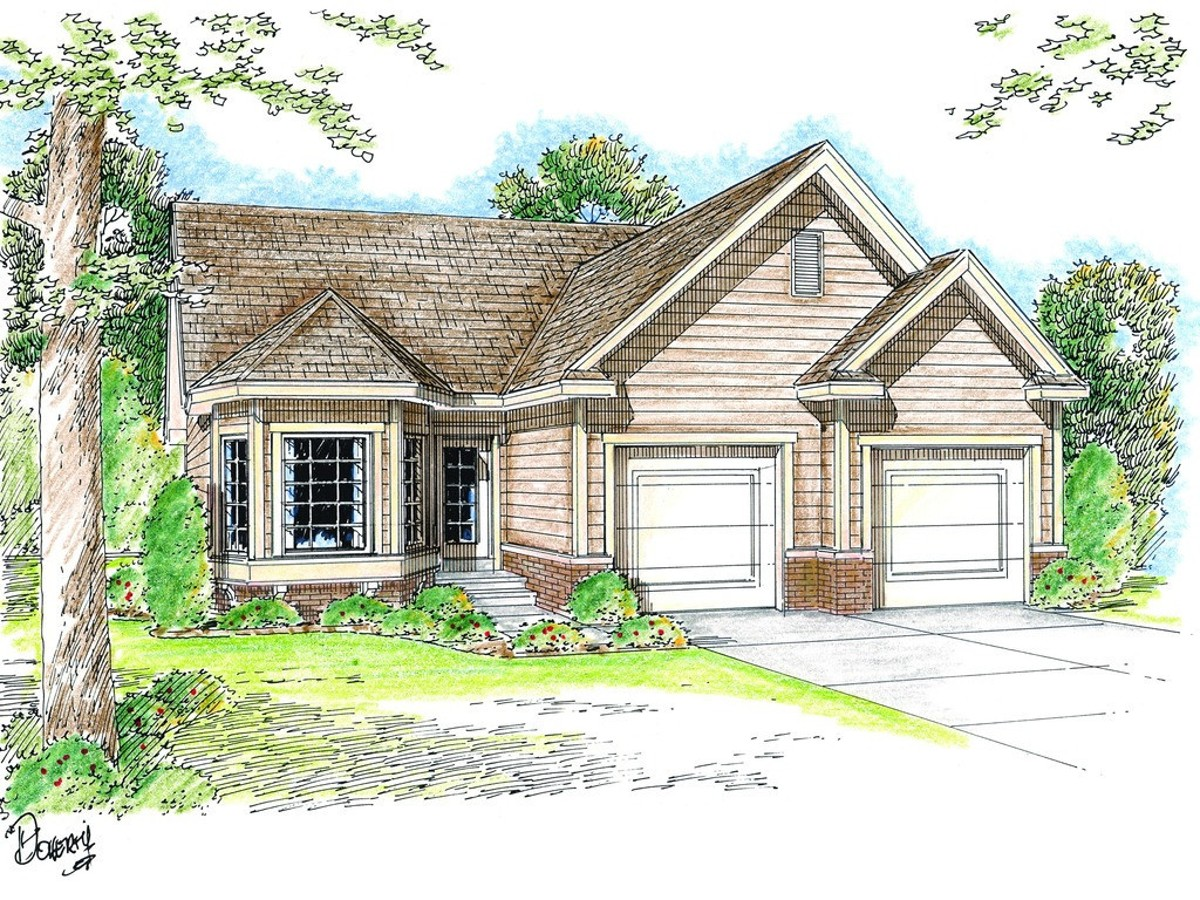 Elegant One Story Traditional House Plan