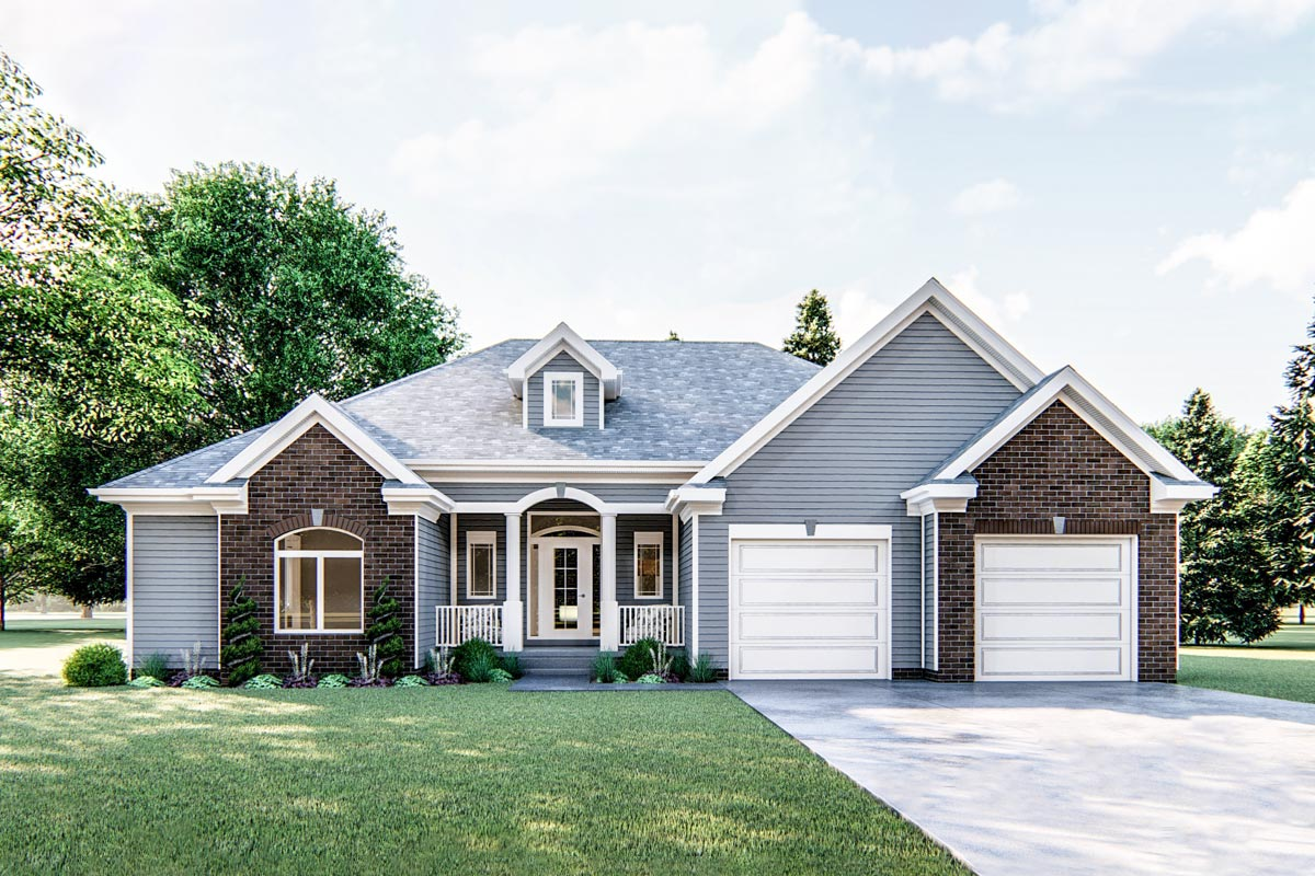 One-Story 1,800 Square Foot Traditional House Plan