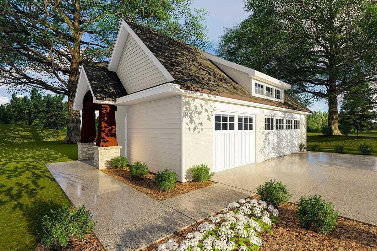 Garage with Shed Dormer Detail - 62470DJ | Architectural ...