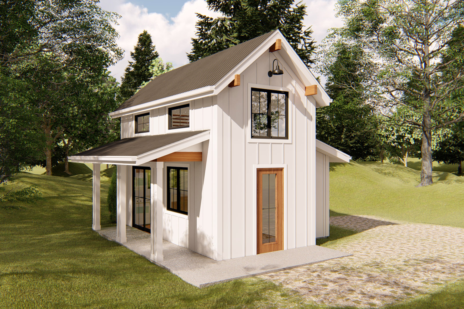 Teeny Tiny House Plan with Bedroom Loft - 62571DJ ...