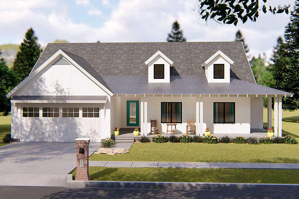 Modern Farmhouse Plan - 62637DJ | Architectural Designs ...