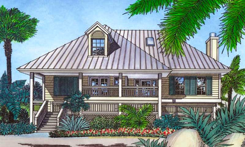 Bermuda Island Style Elevation 6351hd Architectural