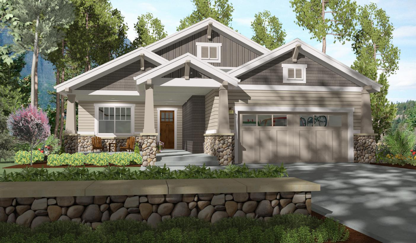 2 bed bungalow with rear covered patio 64410sc architectural designs house plans
