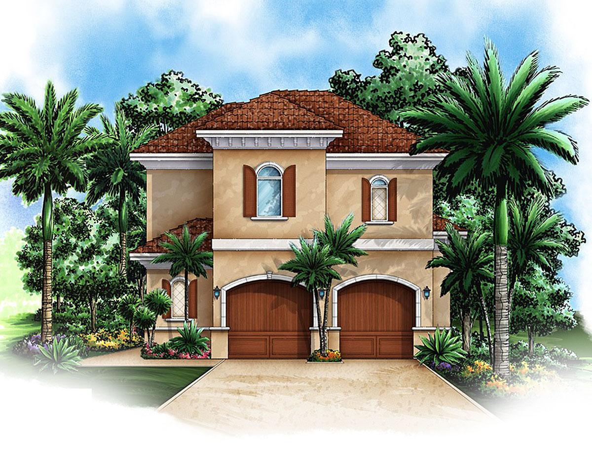 Mediterranean Carriage House Plan 66264we