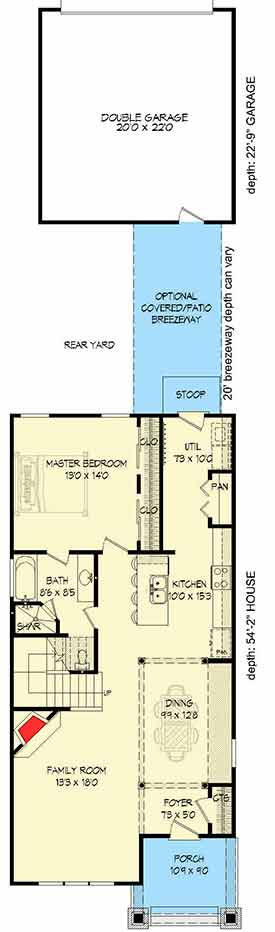 Plan 68402VR: Spacious Narrow Lot House Plan on courtyard house plans, wrap around porch house plans, loft house plans, secret passage house plans, fox trot house plans, curved stair house plans, mariner house plans, covered breezeway plans, house house plans, dog trot house plans, monterey house plans, great room house plans, patio home 2 bedroom plans, cabin house plans, entryway house plans, mud room house plans, utility room house plans, angled house plans, man cave house plans, attic house plans,