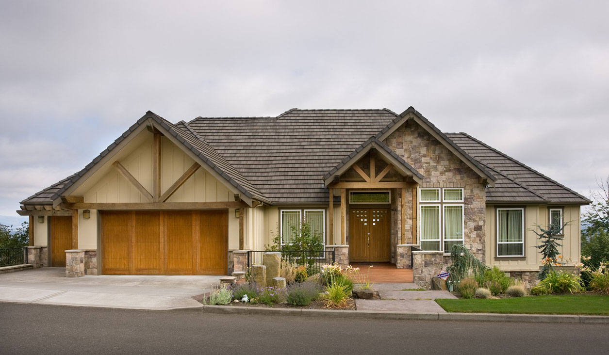 Architectural Home Plans Luxury: Luxury Hillside Craftsman - 69170AM