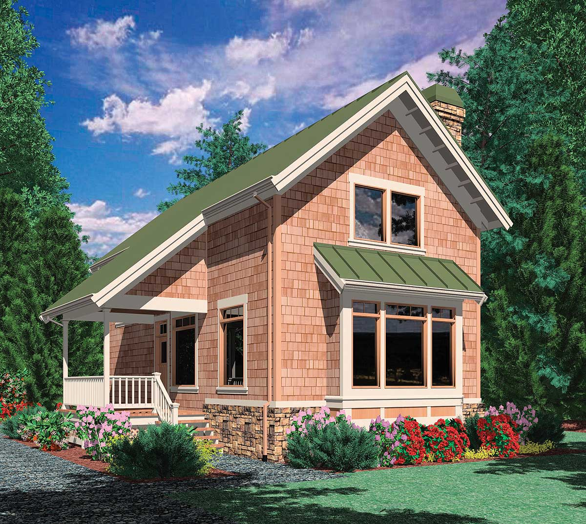 Side Porch Entry 69172am Architectural Designs House