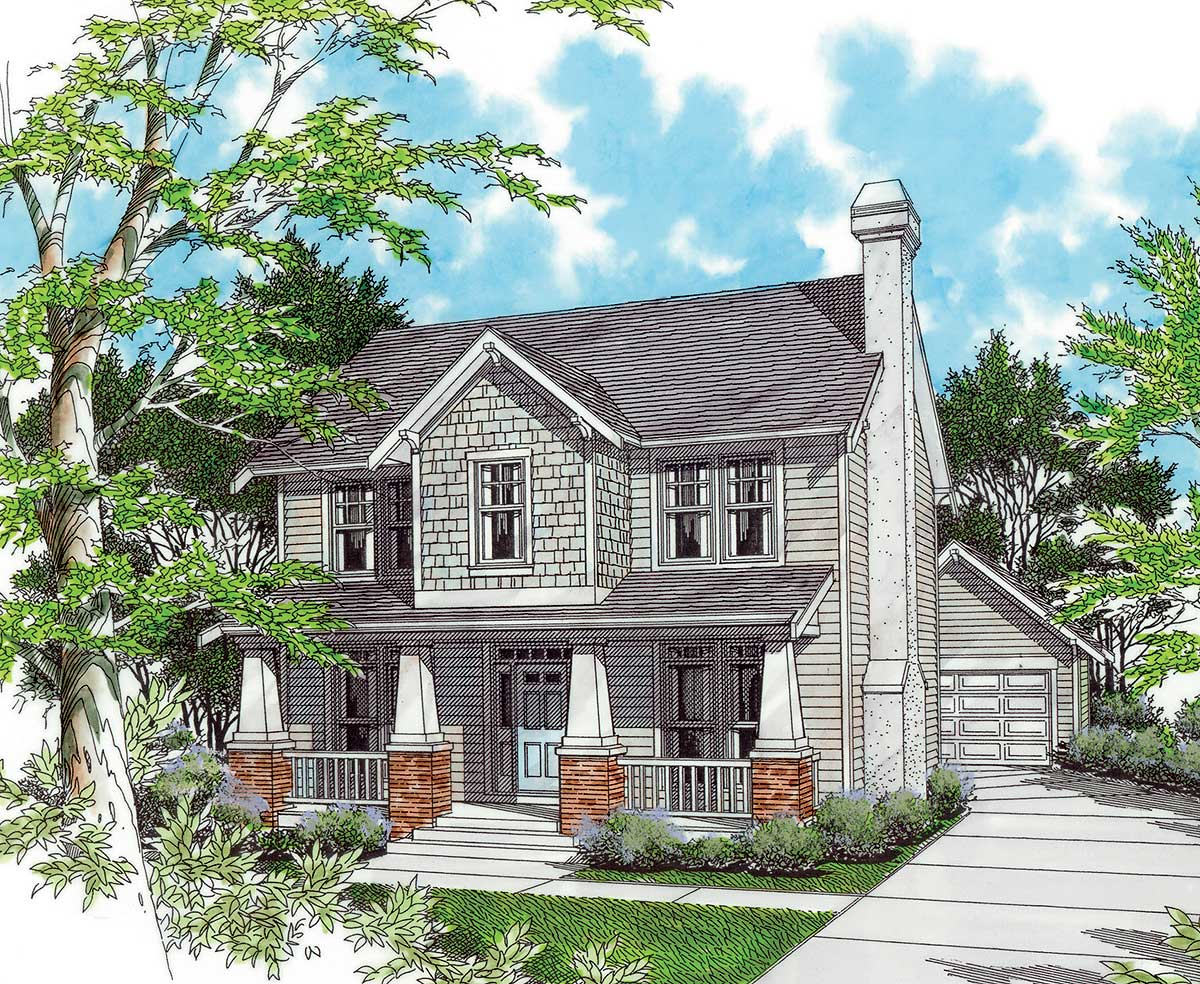 2 story house floor plans two story bungalow 69227am architectural designs house plans 1779