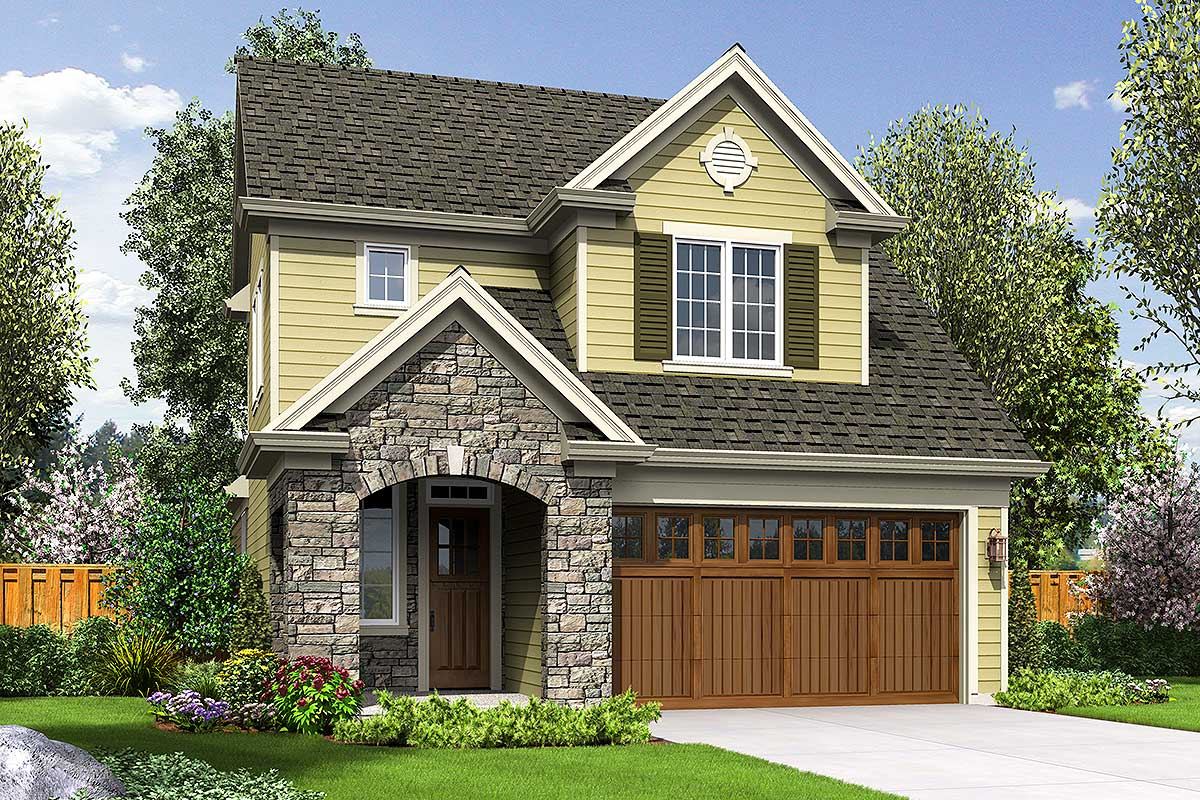 69546am - Get Two Story Small Lot House Plans Gif