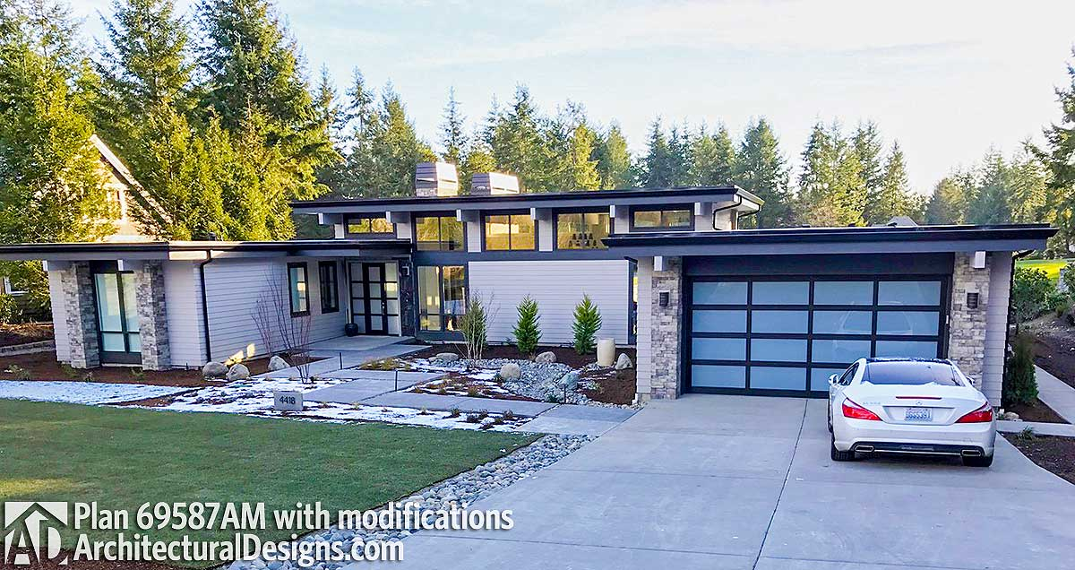 Plan 69587AM: Modern House Plan with Front To Back Living on front of house storage, front of house trees, front of house landscaping, front of house awards, front of house signs, front of house decor, front of house lighting,