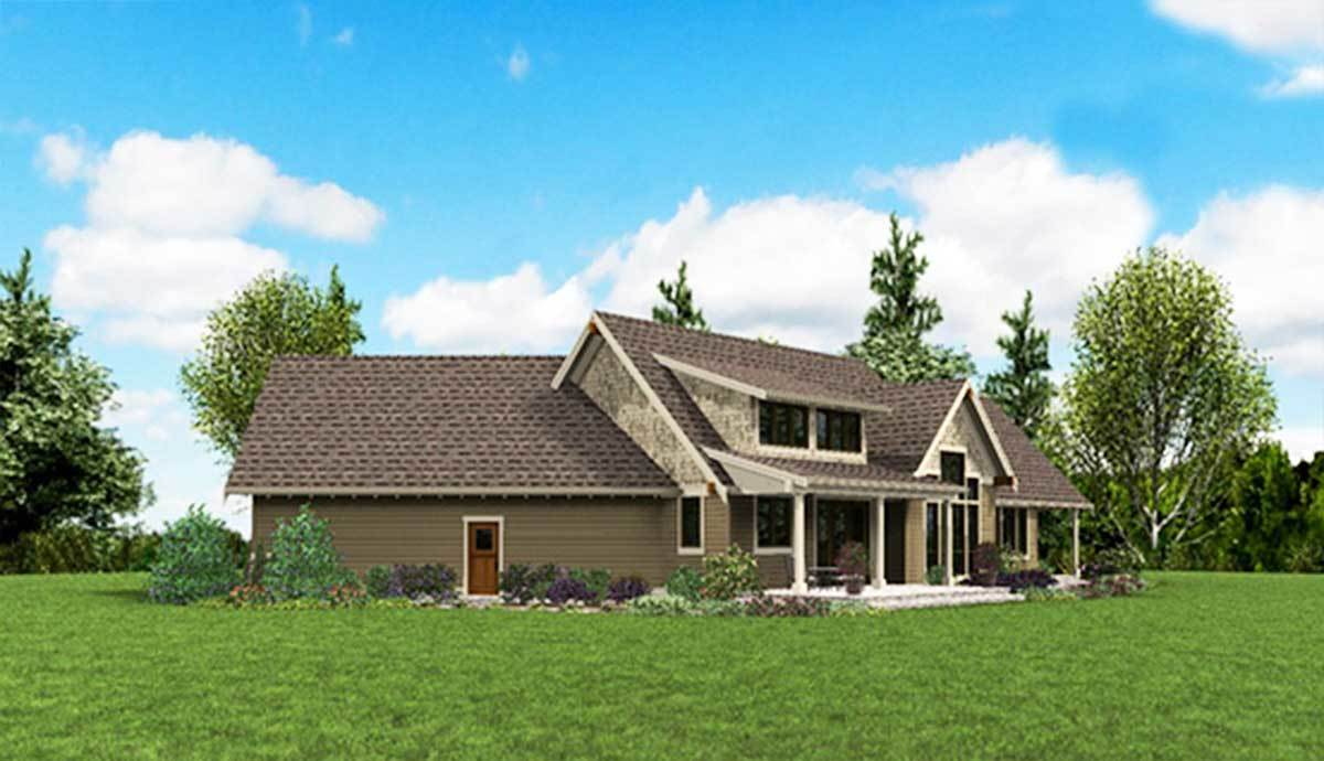 Plan 69594AM: Rugged Craftsman with Angled Garage on home garage designs, angled floor plan house plans, mountain home plans and designs, fabric angel house designs, mountain style home designs, small bungalow designs, cool terraria house designs, rambler style house designs,