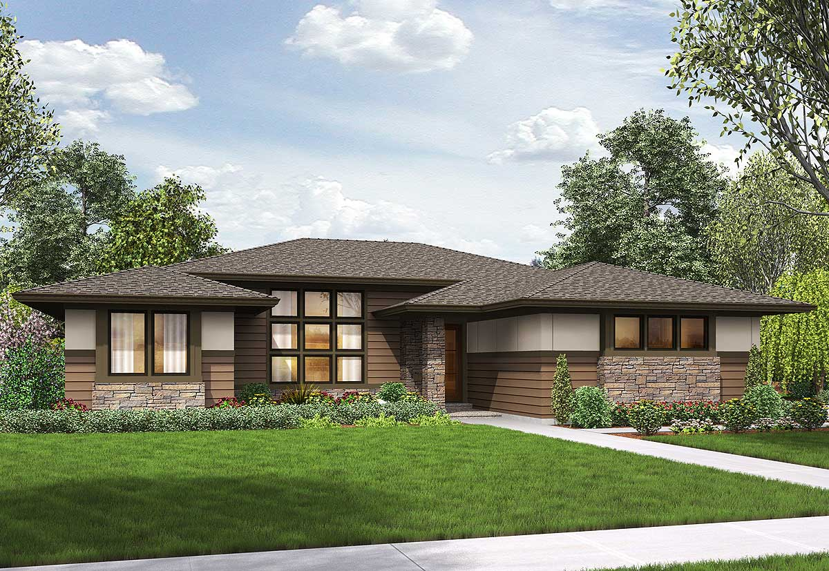3 Bed Modern Prairie Ranch House Plan - 69603AM ...