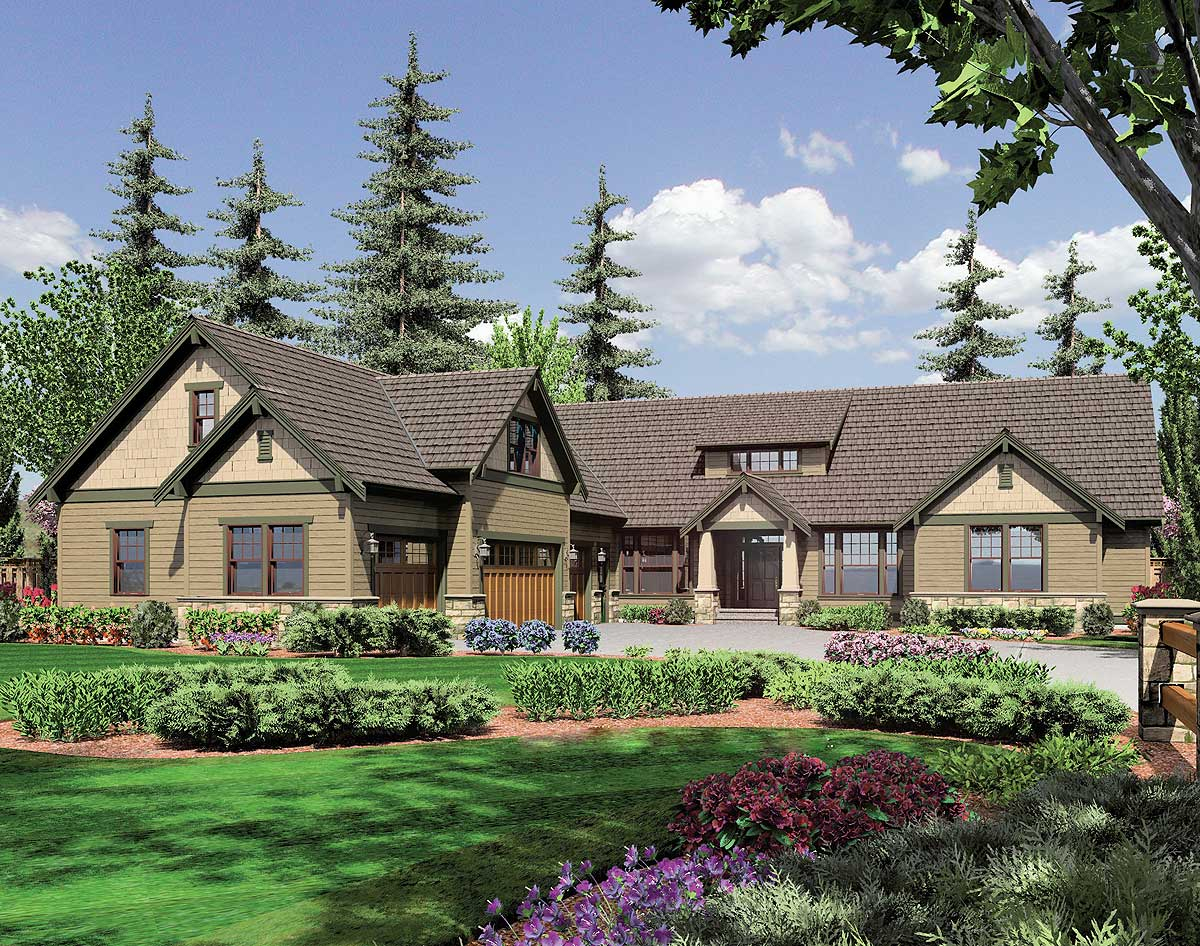 Lodge Style Retreat 6975am Architectural Designs