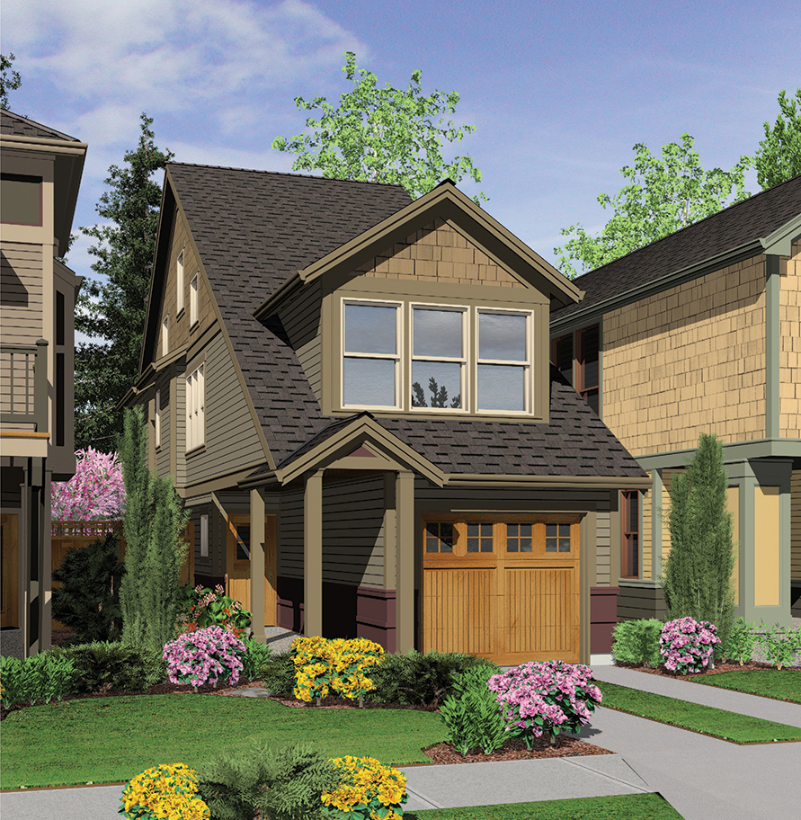 Perfect Home Plan For A Narrow Lot