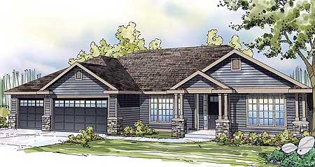 3 Bed Northwest Ranch Home Plan 72688da Architectural