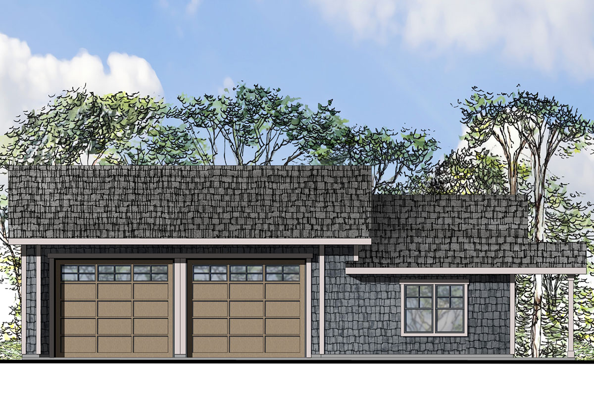 Tandem Garage House Plans: 2 Car Or 4 Car Tandem Garage Plan
