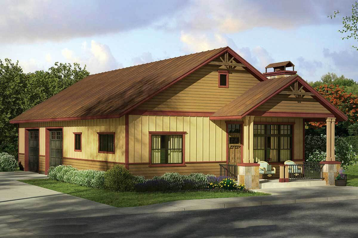 Small Home And Big Garage 72817da Architectural Designs House Plans
