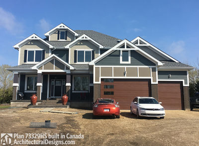 Exclusive House Plan 73329HS comes to life in Alberta - photo 002