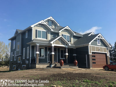 Exclusive House Plan 73329HS comes to life in Alberta - photo 001