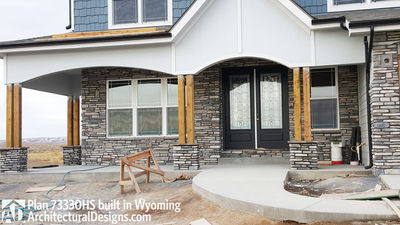 House Plan 73330HS client-built in Wyoming! - photo 004