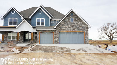 House Plan 73330HS client-built in Wyoming! - photo 001