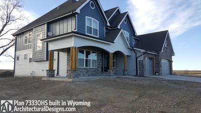 House Plan 73330HS client-built in Wyoming! - photo 003